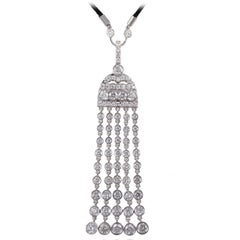 J. Birnbach 2.68 Carat Total Weight Diamond Tassel Pendant