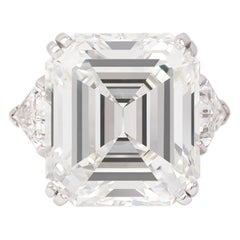 J. Birnbach GIA Certified 18.04 Carat G VS2 Emerald Cut Diamond Ring