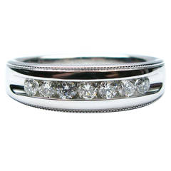 Men's Milgrain Diamond Wedding Band
