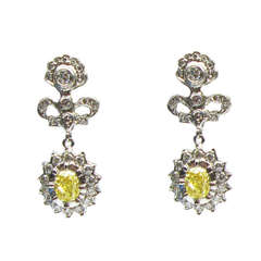 Natural Fancy Yellow Diamond Cathy Carmendy Earrings
