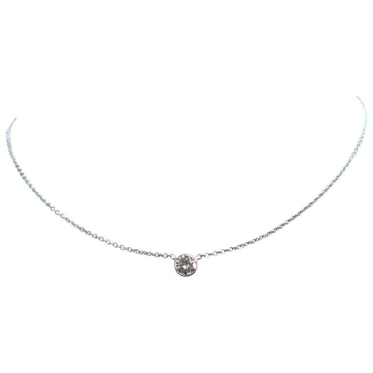 0.75Ct Round Brilliant Diamond Pendant For Sale