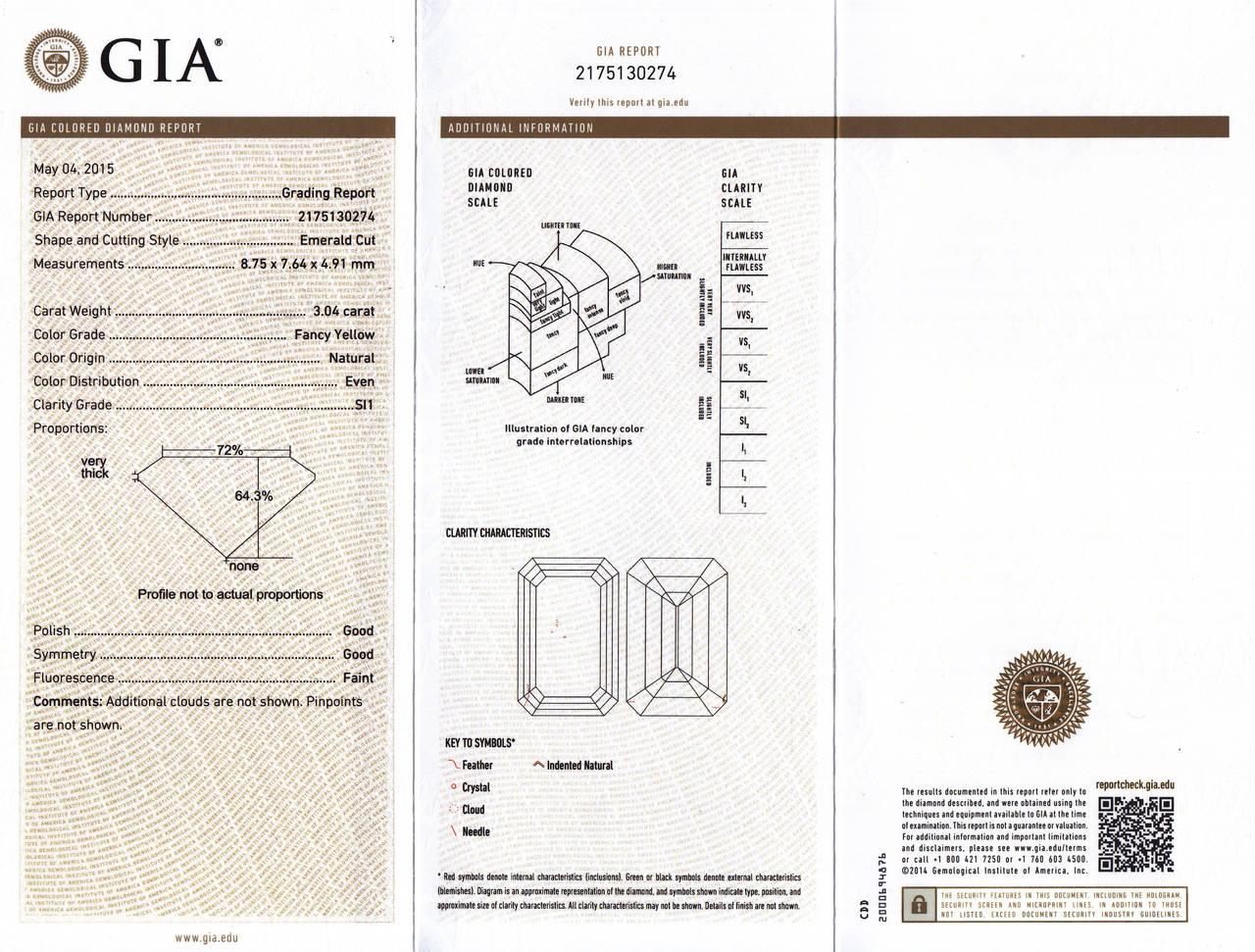 6.70 Carat GIA Cert Fancy Yellow Emerald cut  Diamond Frame Earrings For Sale 3