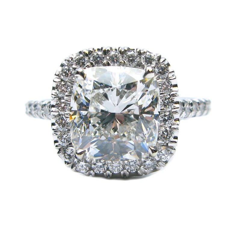 3 00 Carat G VS1 Cushion Diamond Ring at 1stdibs
