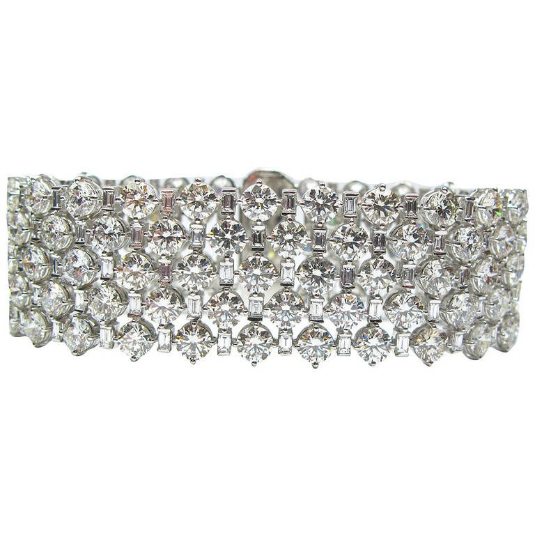 Five Row Flexible Diamond Bracelet