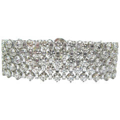 Five Row Flexible Diamond Bracelet