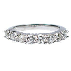 Round Brilliant Diamond Wedding Band