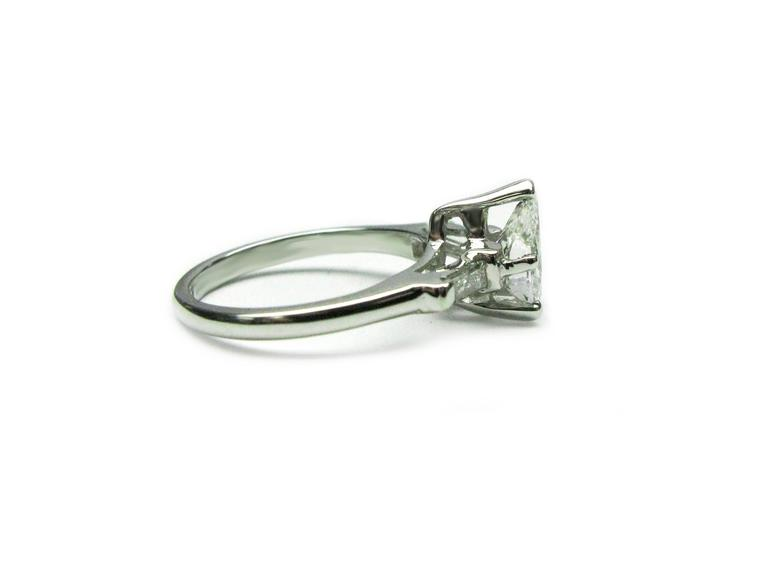1.02 Carat Pear Shaped Diamond Platinum Engagement Ring 3