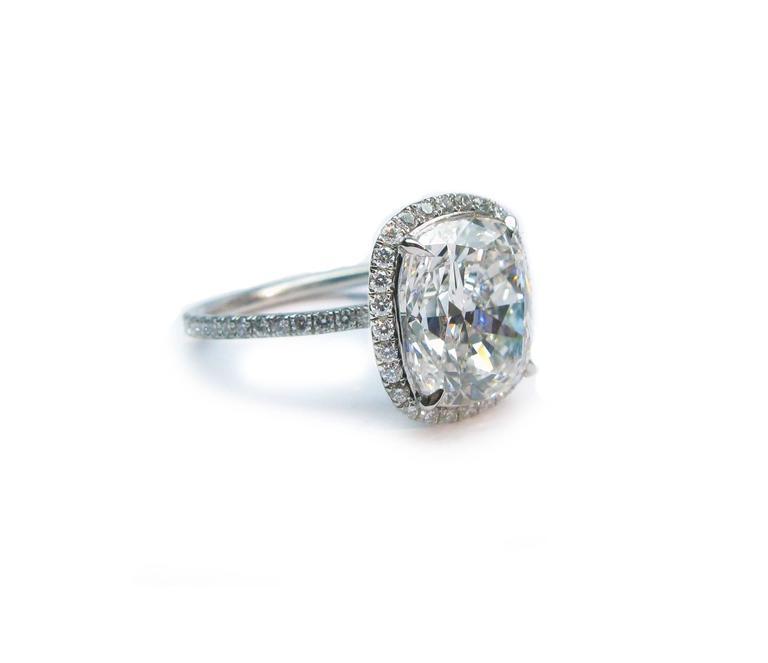 Harry Winston 4.44 Carat GIA Cert Diamond Platinum Engagement Ring 3