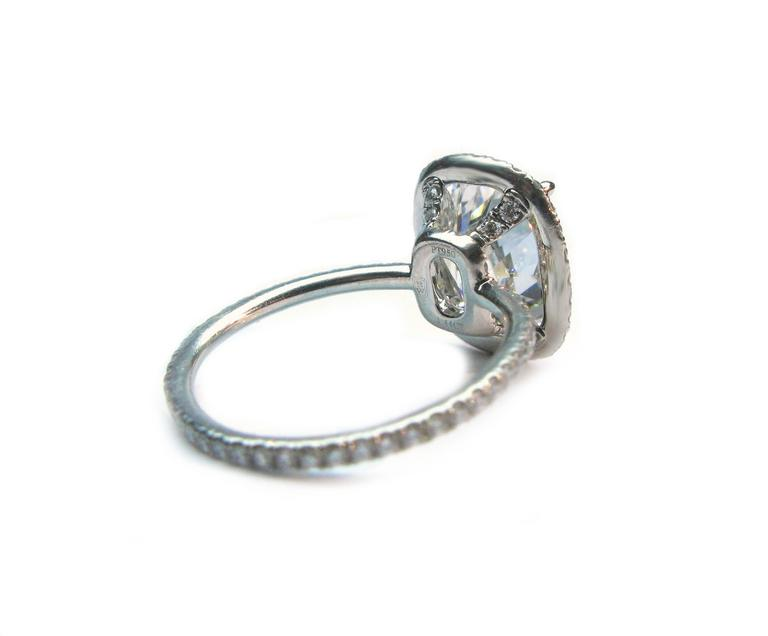Harry Winston 4.44 Carat GIA Cert Diamond Platinum Engagement Ring 5