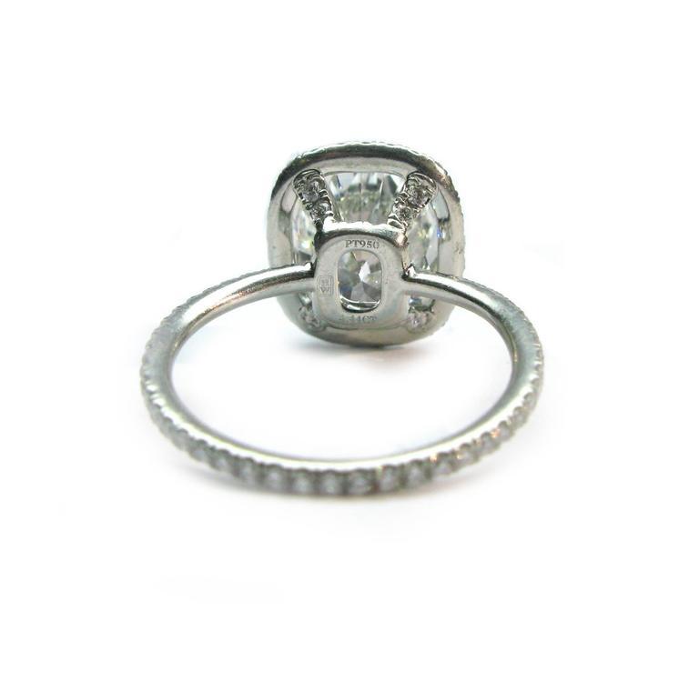 Harry Winston 4.44 Carat GIA Cert Diamond Platinum Engagement Ring 6