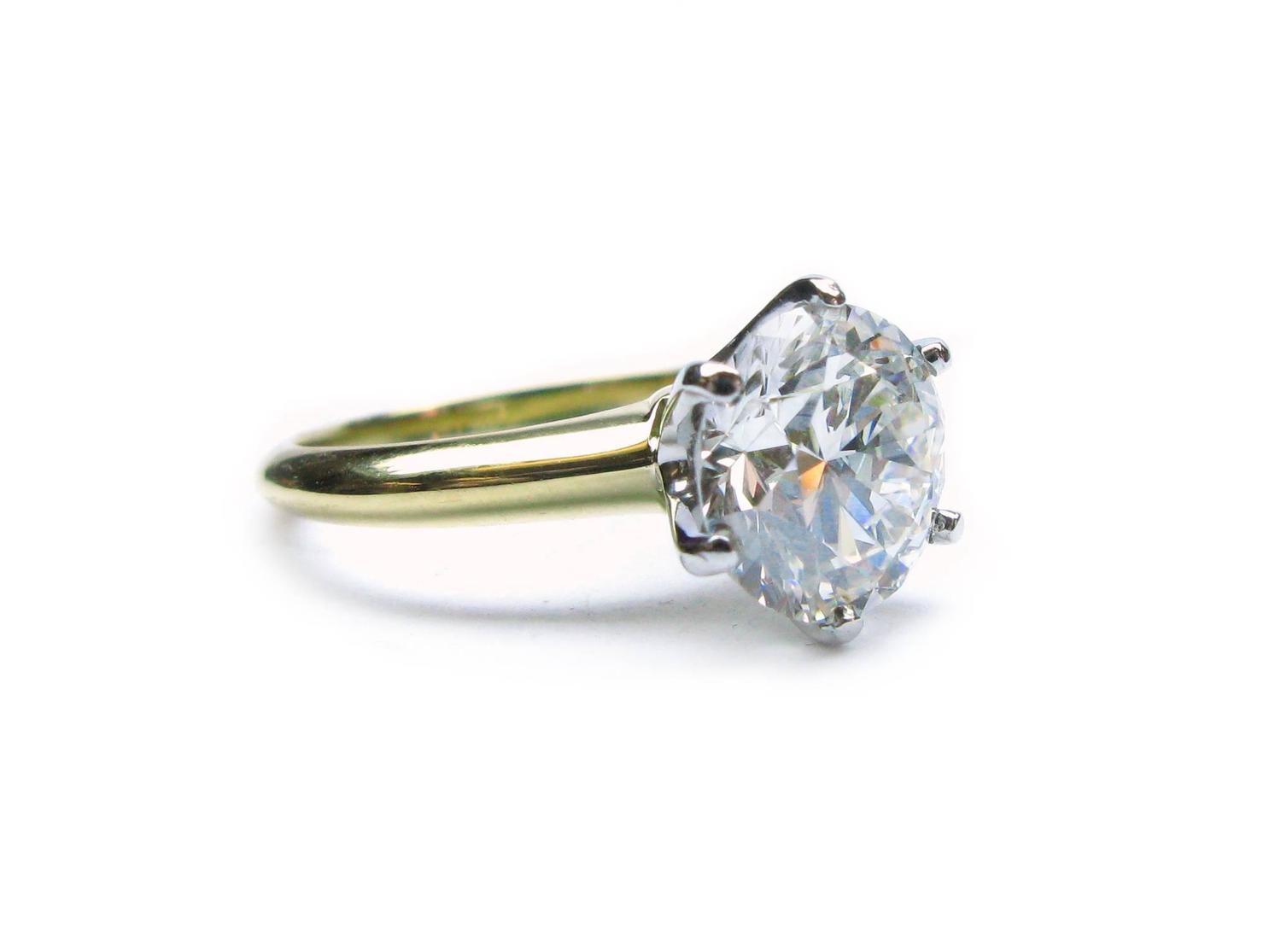 Tiffany and Co 2 25 Carat GIA Cert Diamond Engagement Ring at 1stdibs