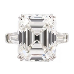 J. Birnbach GIA Certified 10.24 Carat Emerald Cut F VS1 Diamond Ring