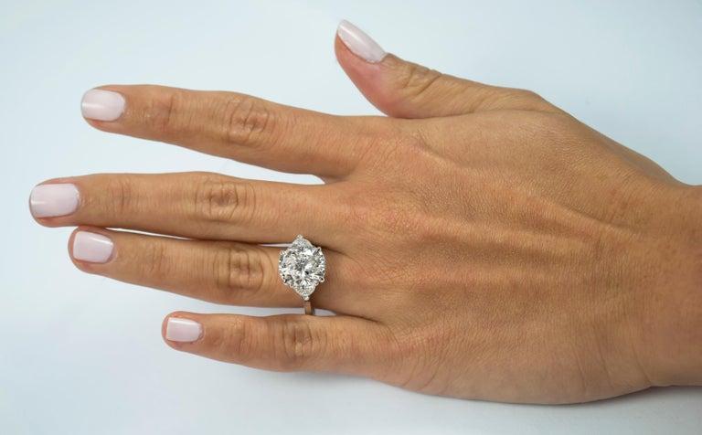Cushion Cut J. Birnbach GIA Certified 4.37 Carat Cushion E VS1 Diamond Ring For Sale