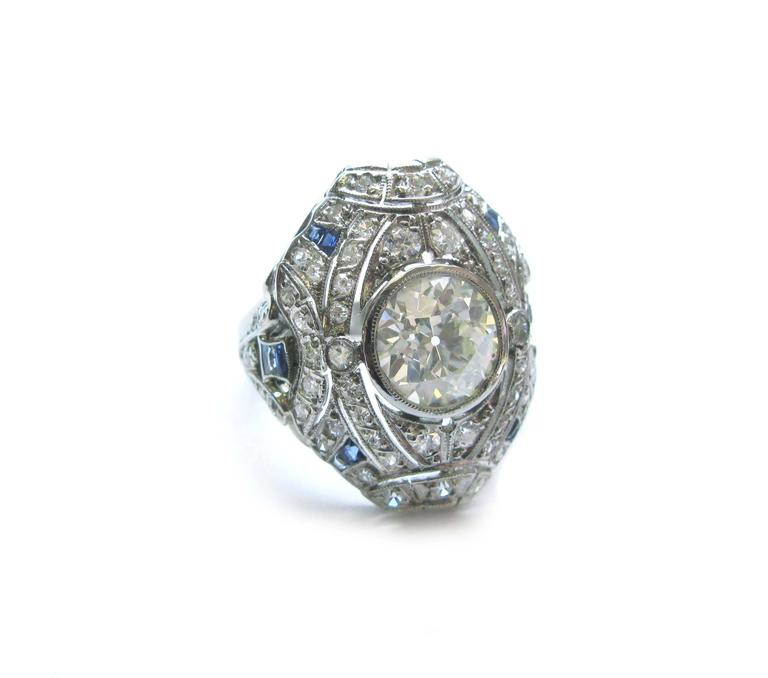 Carat old european diamond art deco ring for sale at for European art deco