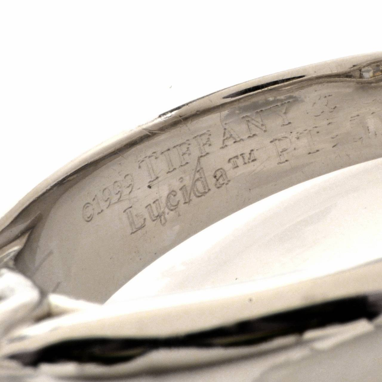 Tiffany & Co. 4.01 Carat G-VS1 Diamond Platinum  Ring For Sale 1