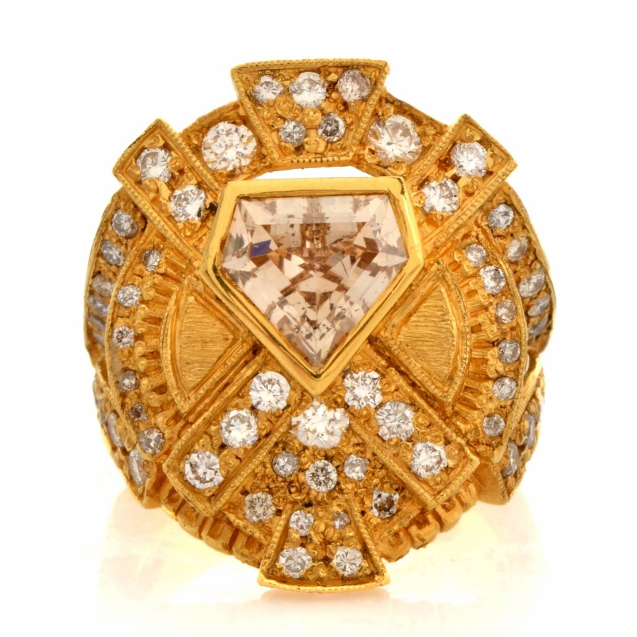 Impressive Diamond Yellow Gold Ring 2