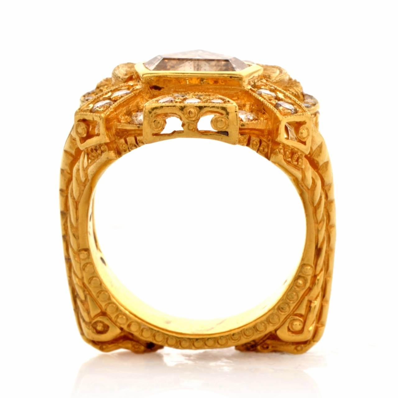 Impressive Diamond Yellow Gold Ring 5