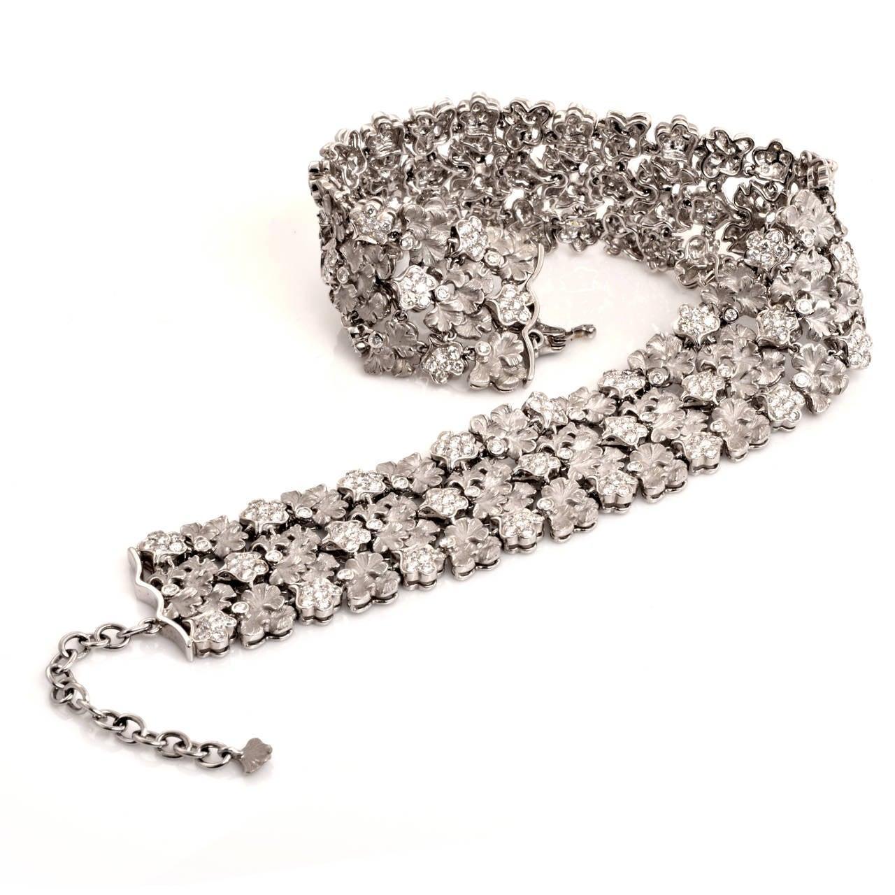 Carrera y Carrera Diamond Gold Wreath Choker Necklace 4