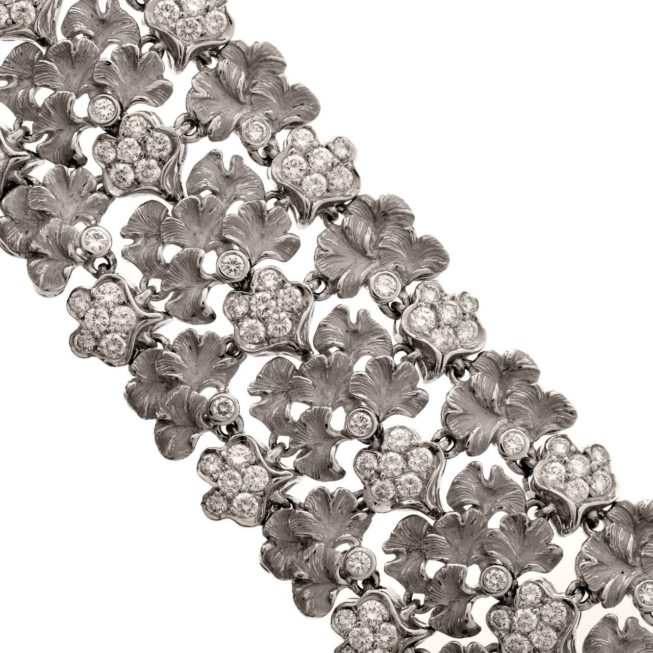 Carrera y Carrera Diamond Gold Wreath Choker Necklace 7