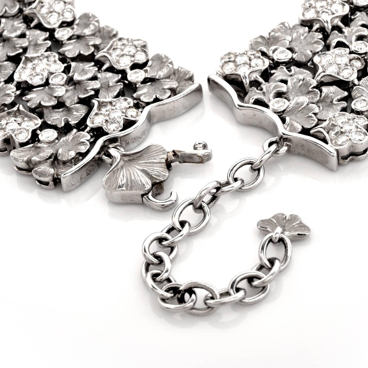 Carrera y Carrera Diamond Gold Wreath Choker Necklace 8