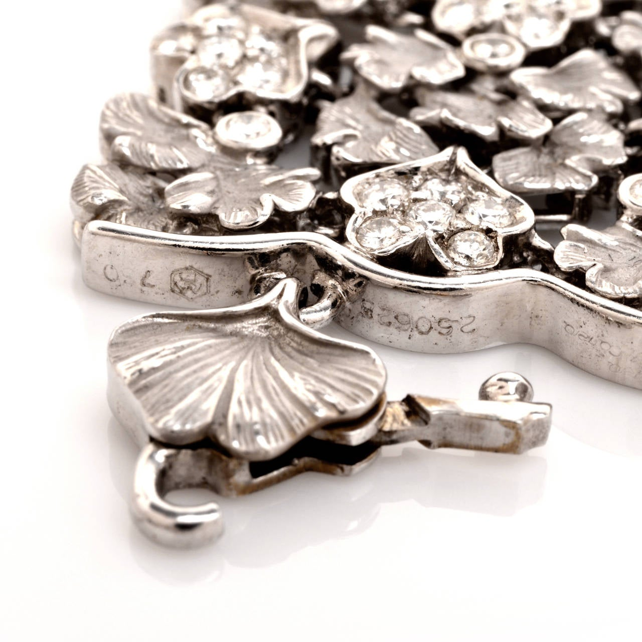 Carrera y Carrera Diamond Gold Wreath Choker Necklace 9