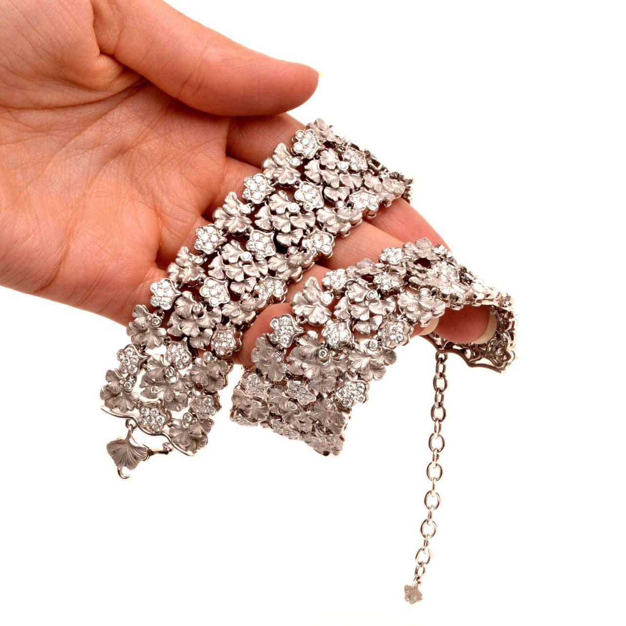 Carrera y Carrera Diamond Gold Wreath Choker Necklace 10