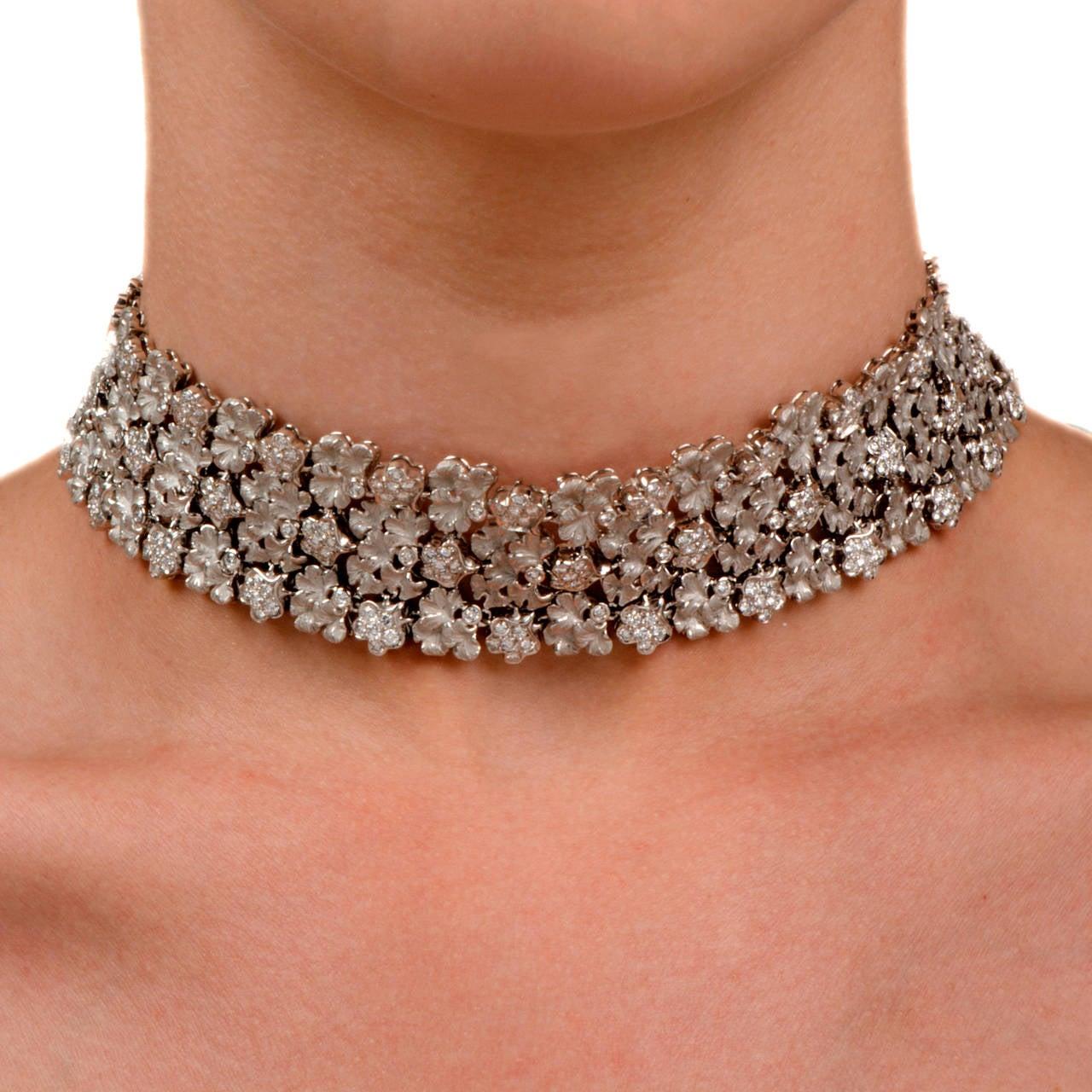 Carrera y Carrera Diamond Gold Wreath Choker Necklace 2