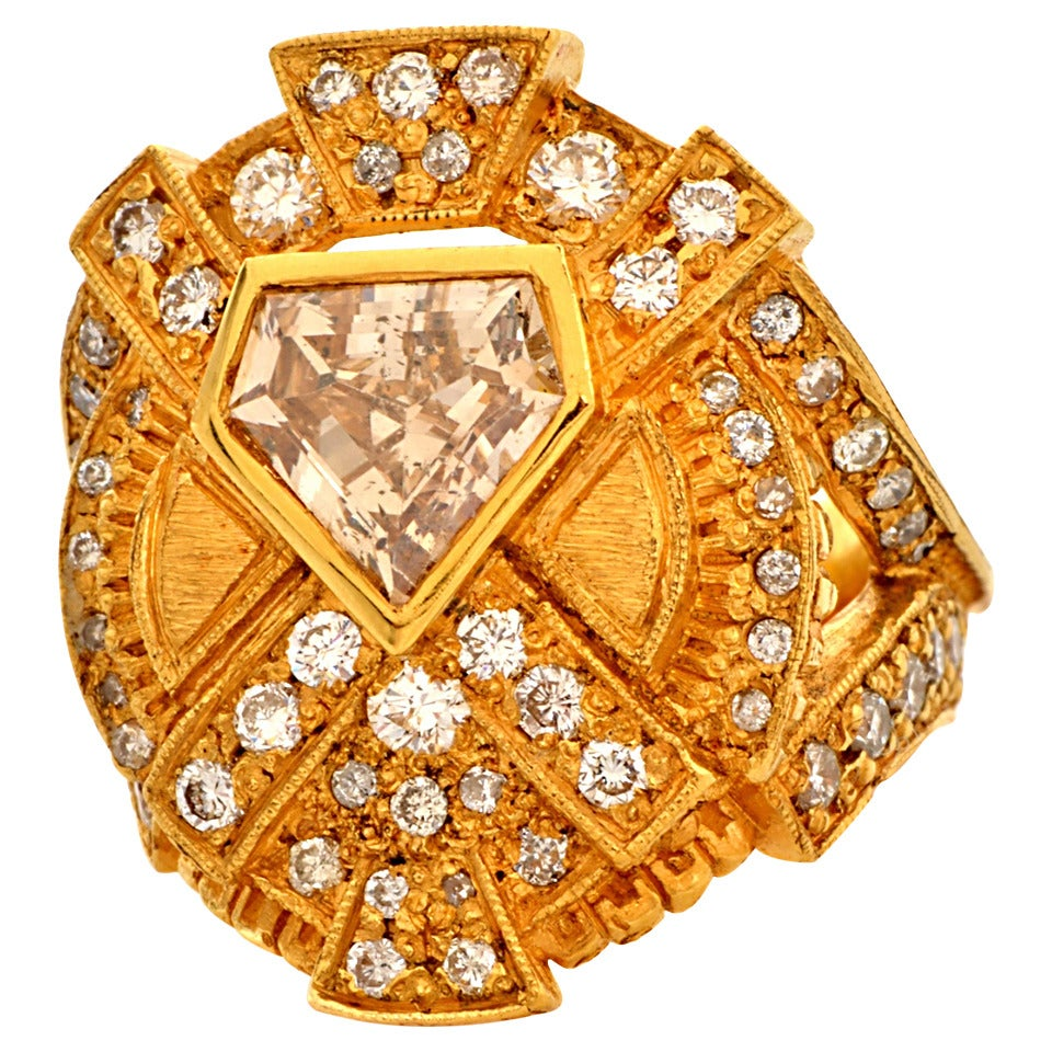 Impressive Diamond Yellow Gold Ring 1