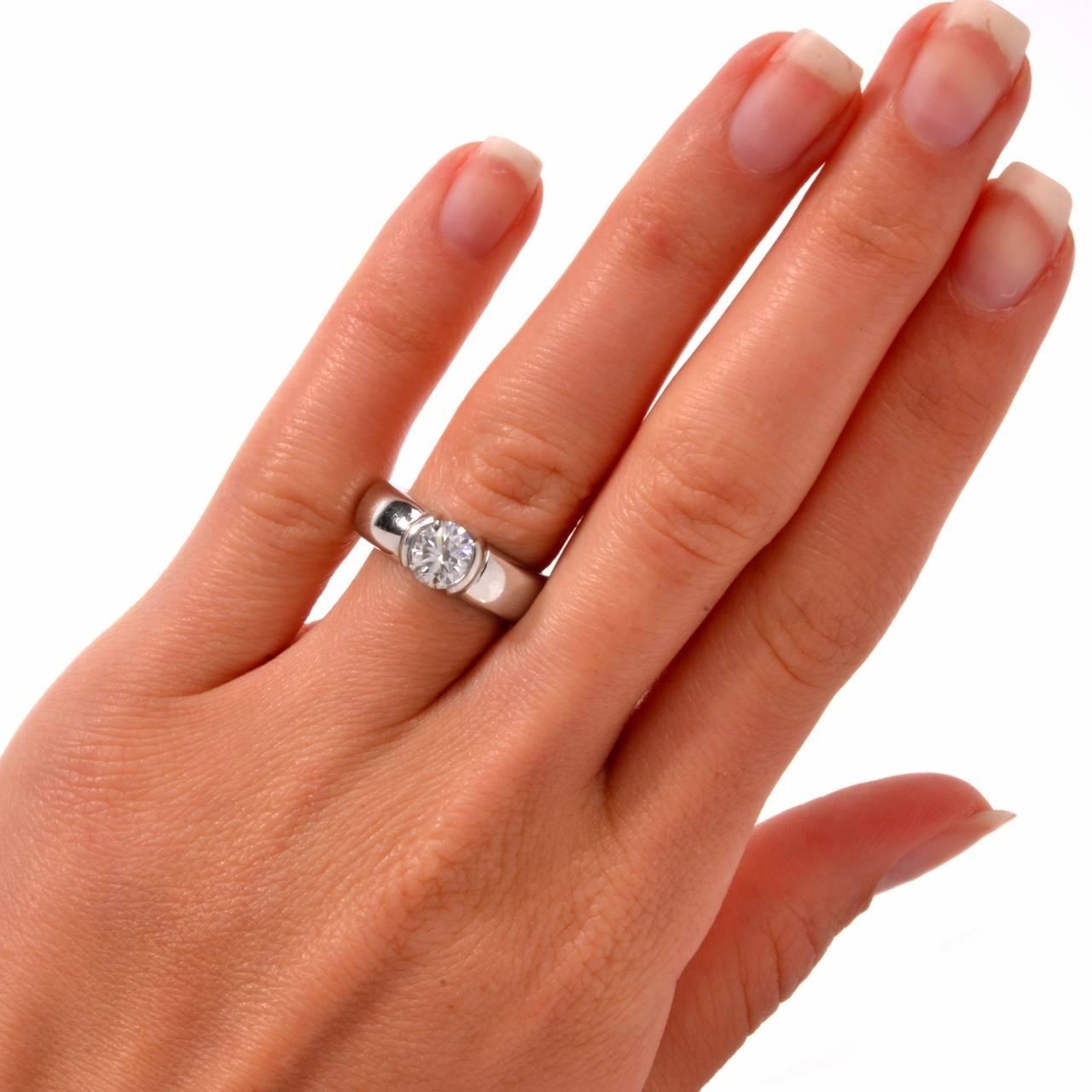 Tiffany and Co. Etoile Diamond Platinum Engagement Ring at 1stdibs | 1280 x 1280 jpeg 103kB
