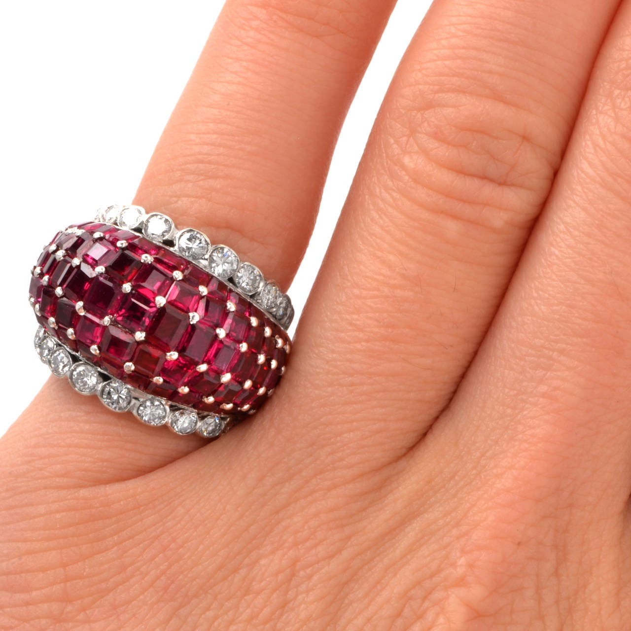 Ruby Diamond Gold Ring For Sale 1