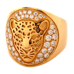 Carrera y Carrera Diamond Gold Linea Fiera Leopard Ring