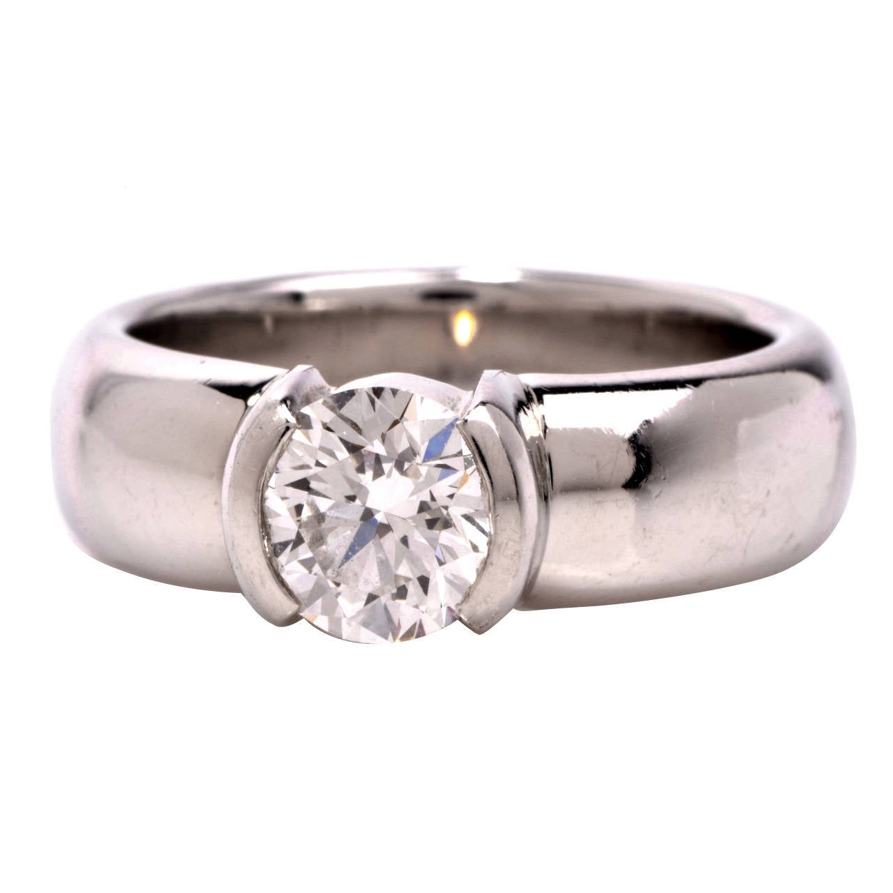 Tiffany And Co Etoile Diamond Platinum Engagement Ring At