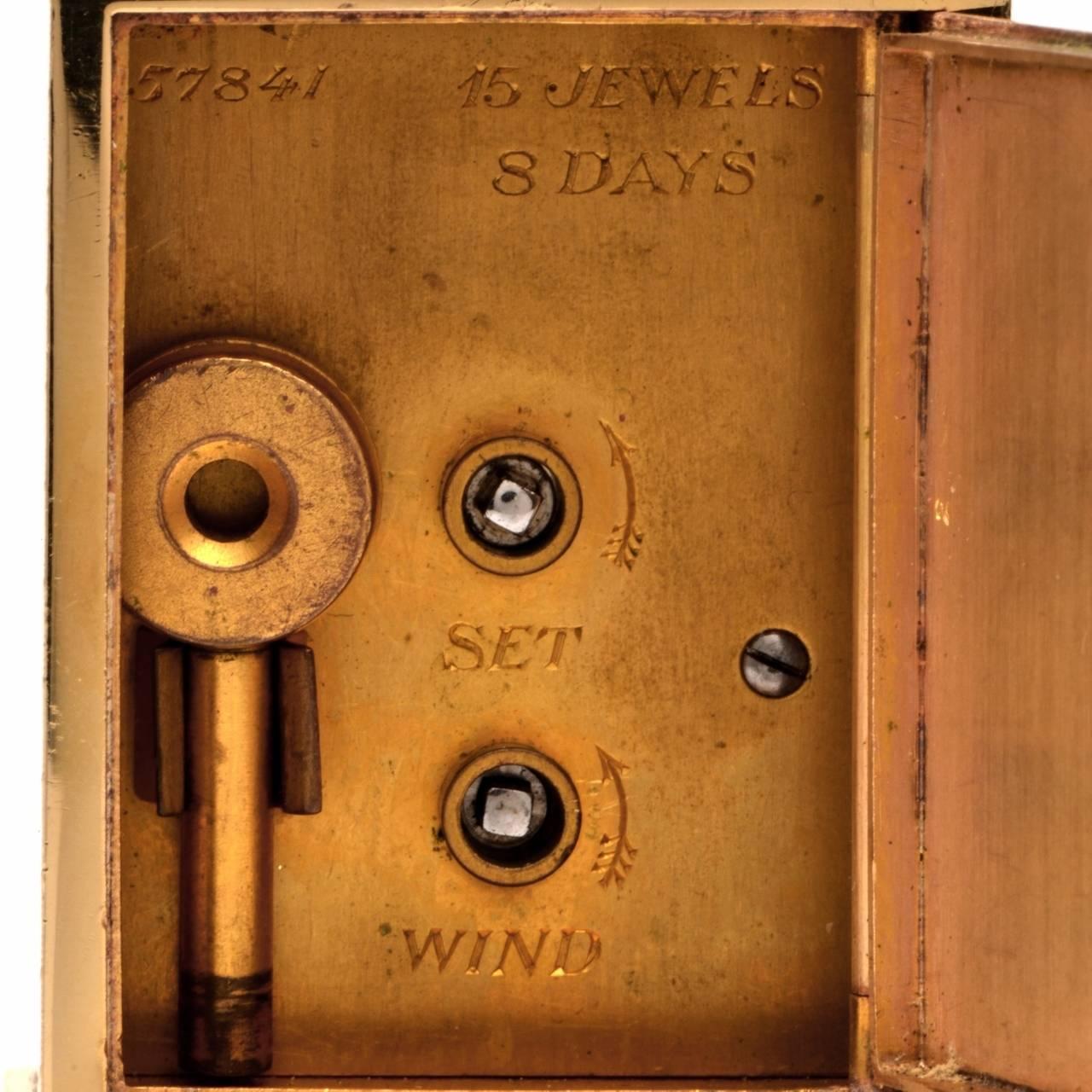 Cartier Vintage 14 Karat Gold Eight Day Accessory Desk Clock For Sale 4