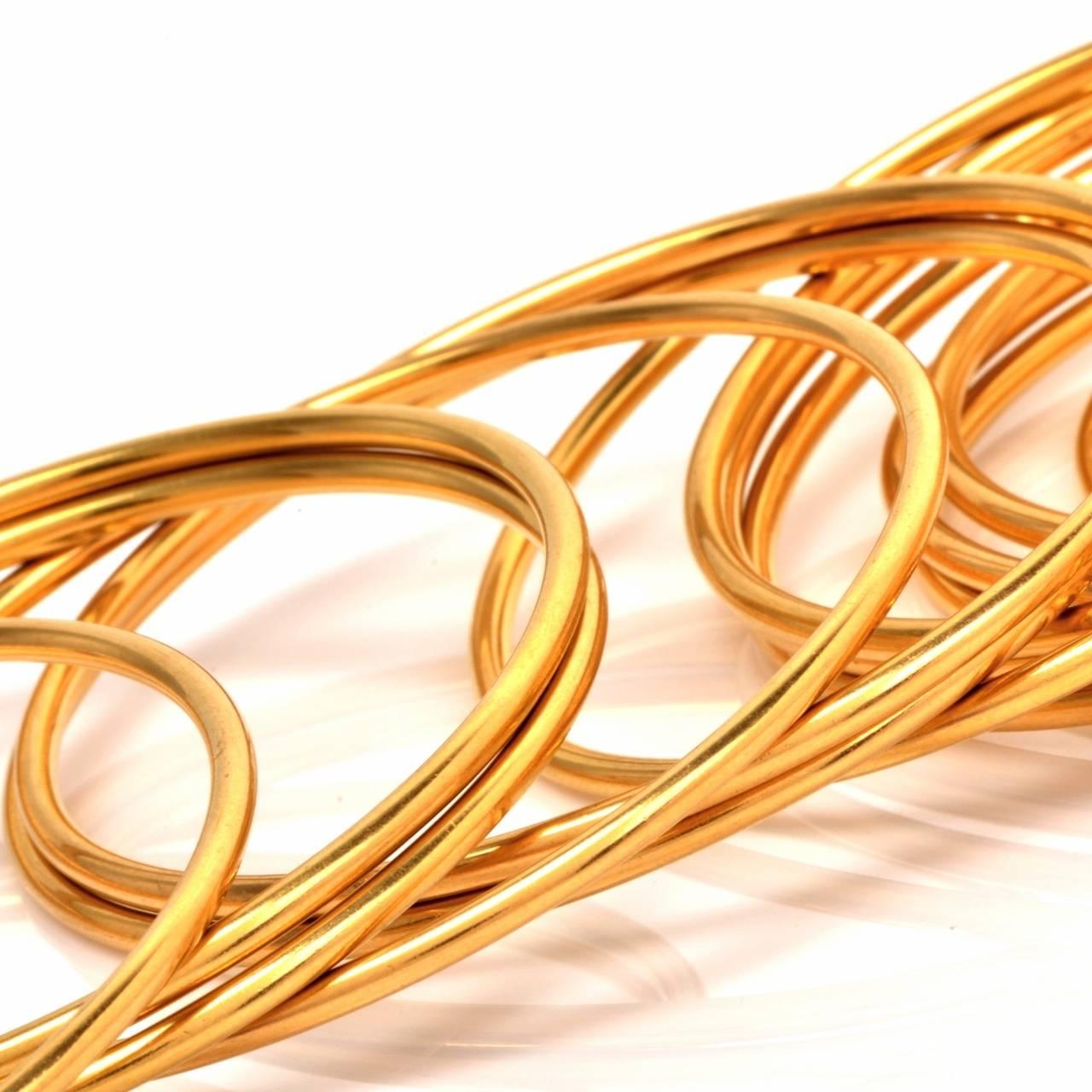 Stackable Gold Bangle Bracelets Set of 12 7