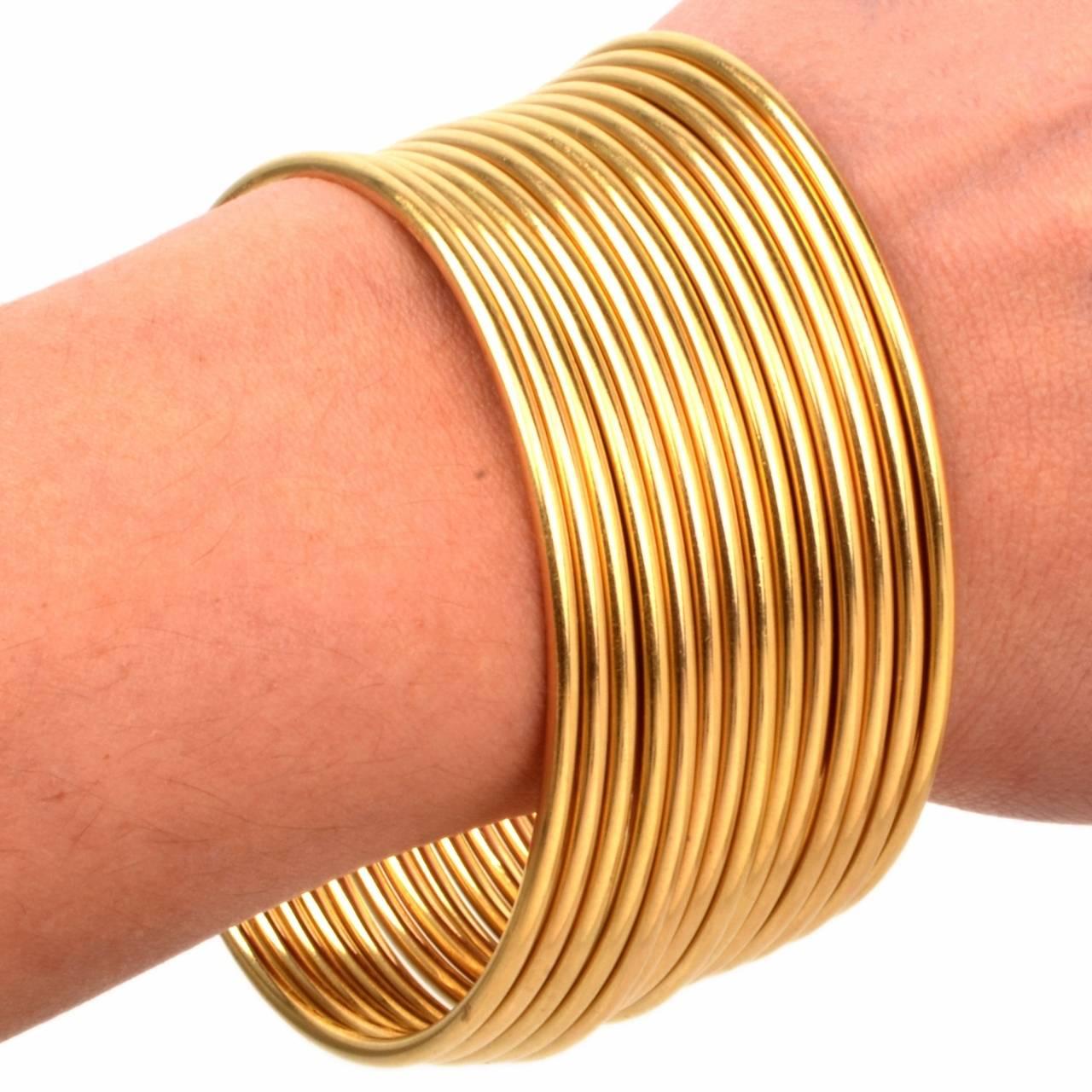 Stackable Gold Bangle Bracelets Set of 12 6