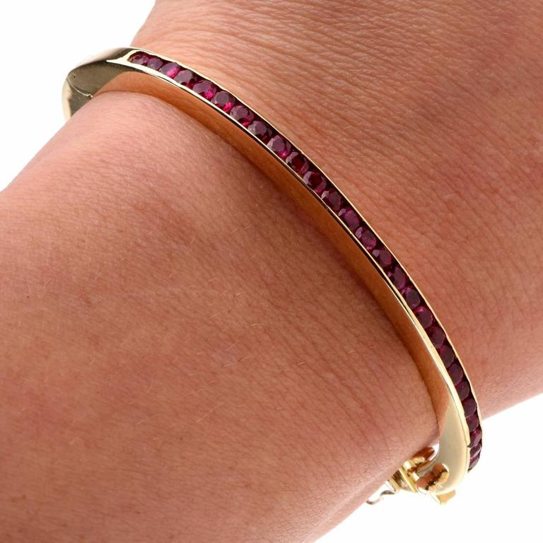 tiffany and co ruby yellow gold bangle bracelet at 1stdibs