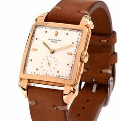 Patek Philippe Yellow Gold Manual Wind Wristwatch Ref 2424