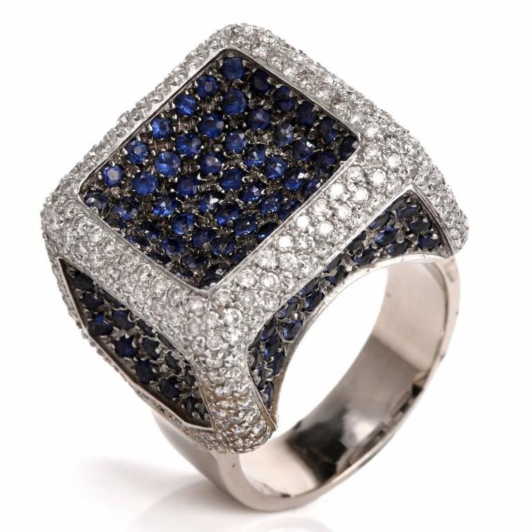 italian sapphire gold ring at 1stdibs