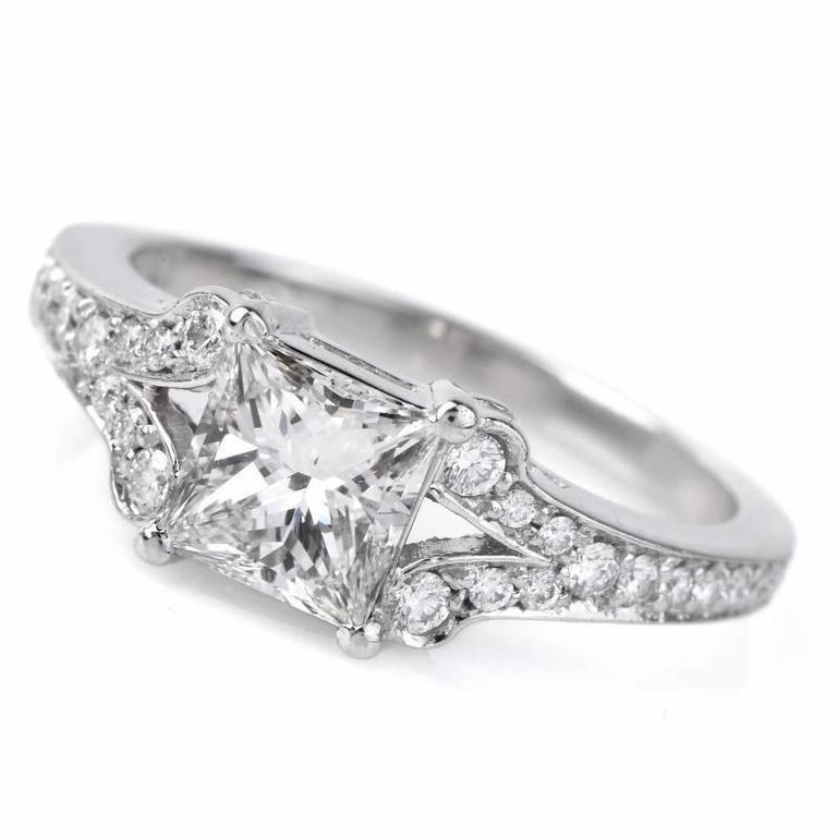 1 01 carat cert princess cut platinum