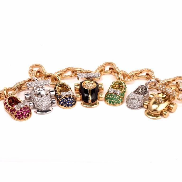 wonderful aaron basha shoes charm bracelet for