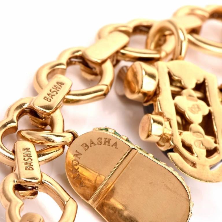 Wonderful Aaron Basha Diamond Shoes Charm Bracelet For ...