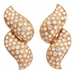 Diamond Gold Clip-Back Earrings