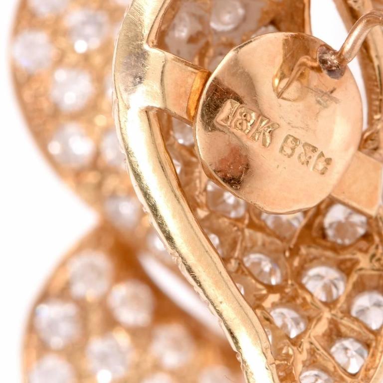 Diamond Gold Clip-Back Earrings 5