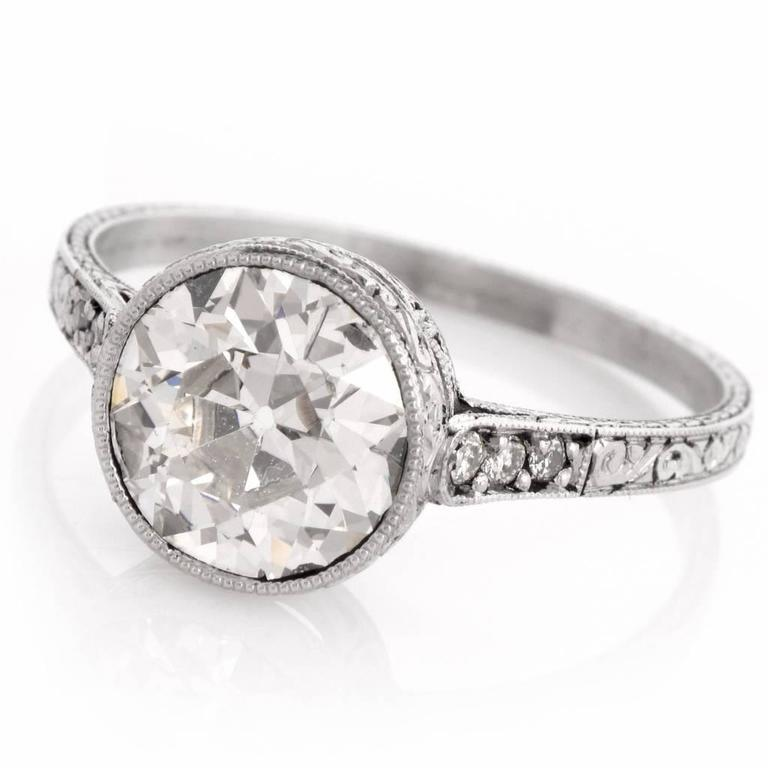 1930s Antique Diamond Platinum Engagement Ring For Sale at ...