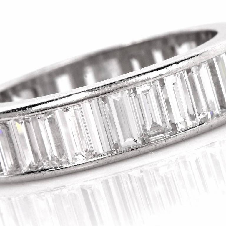 1960s Classic Diamond Baguette Eternity Band Ring 5