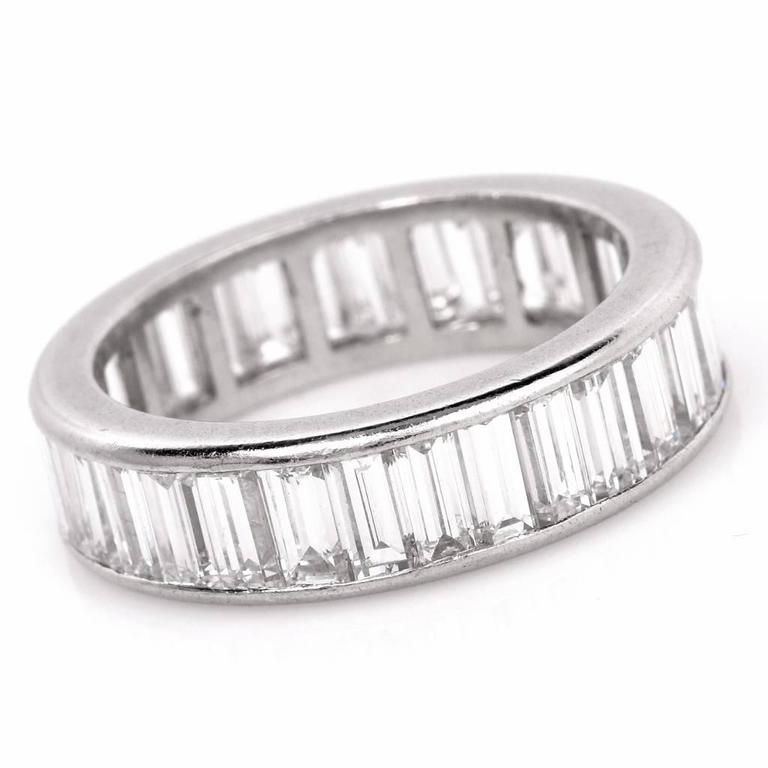 1960s Classic Diamond Baguette Eternity Band Ring 4