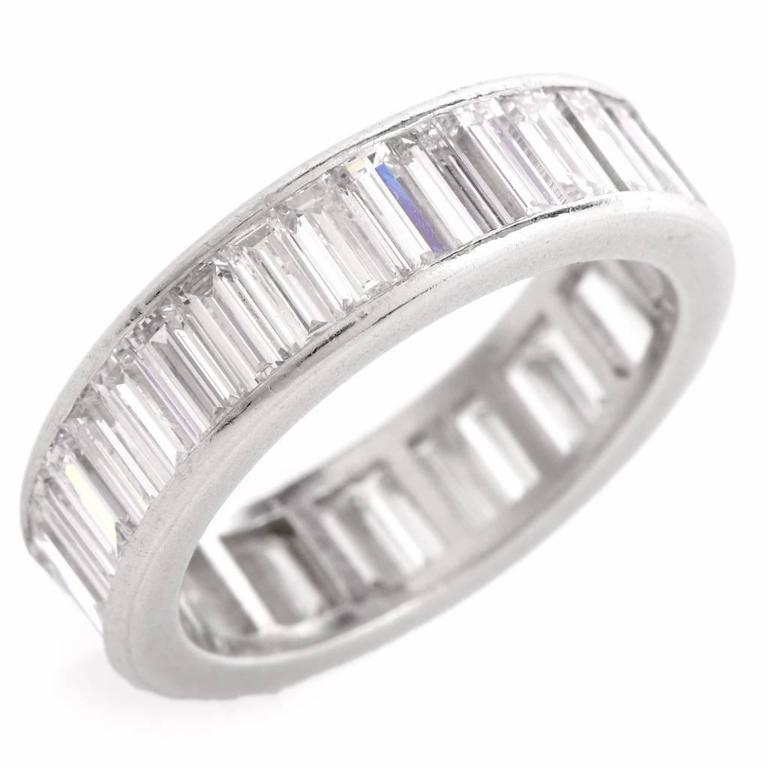 1960s Classic Diamond Baguette Eternity Band Ring 2
