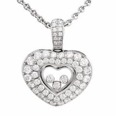 Chopard  Happy Floating Diamonds White Gold Pendant