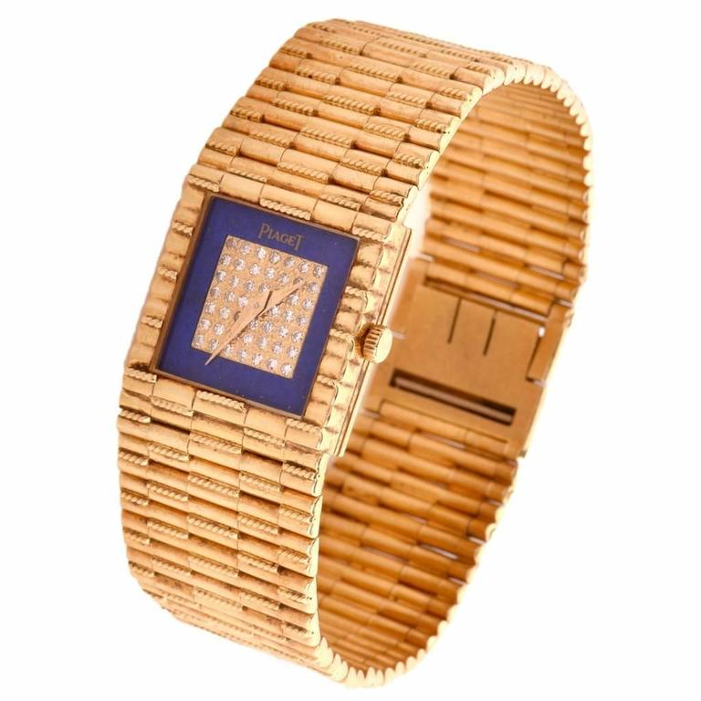 Piaget Yellow Gold Diamond quartz Wristwatch Ref 8131