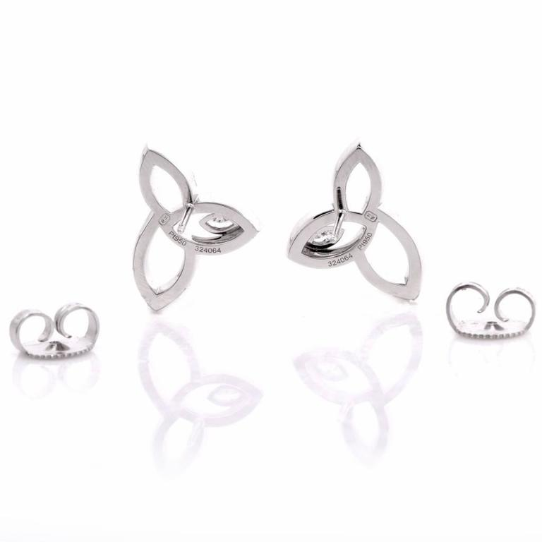 Harry Winston Lily Cluster Collection Diamond Platinum Stud Earrings 3